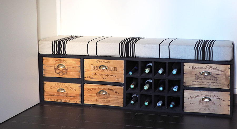 caisse de vin en bois vide. Black Bedroom Furniture Sets. Home Design Ideas