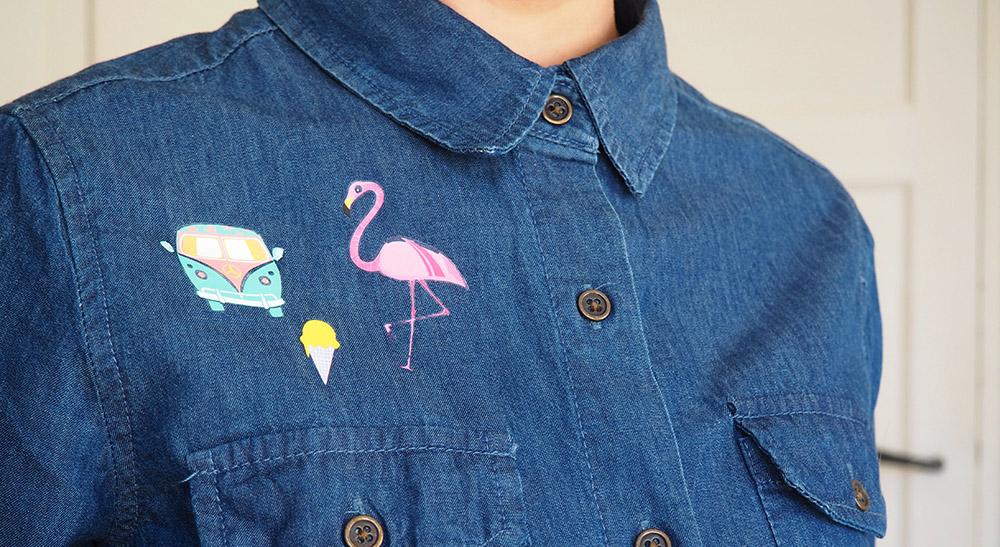 Extrem DIY express : des stickers textile pour une chemise trop(i)cool  FF93